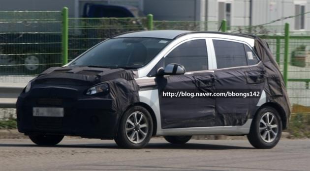 Hyundai i20 spotted testing