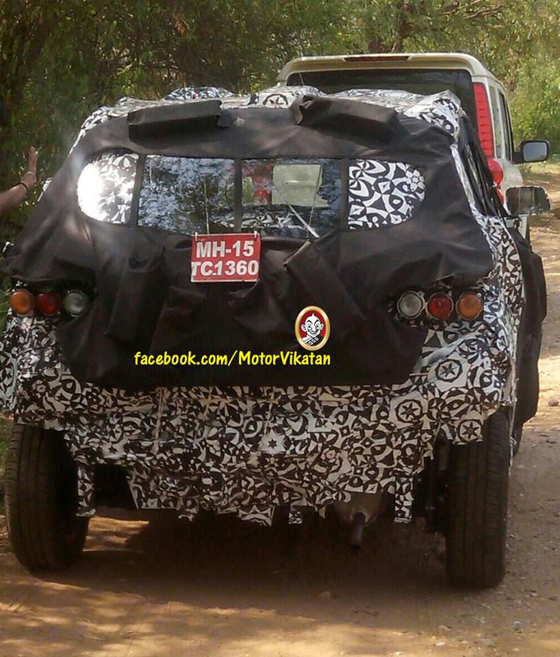Mahindra S101 Spied Under Heavy Camouflage