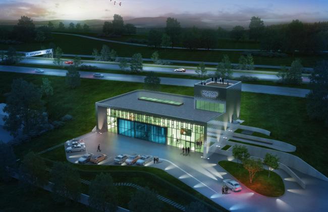 New Hyundai test centre at the Nurburgring