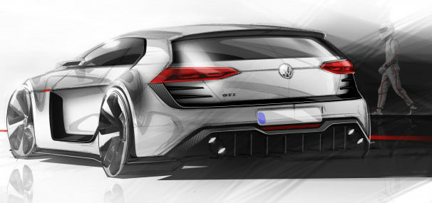 VW Design Vision GTI Back View