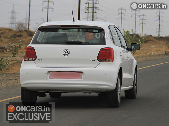 VW Polo GT TDI Spied Back View