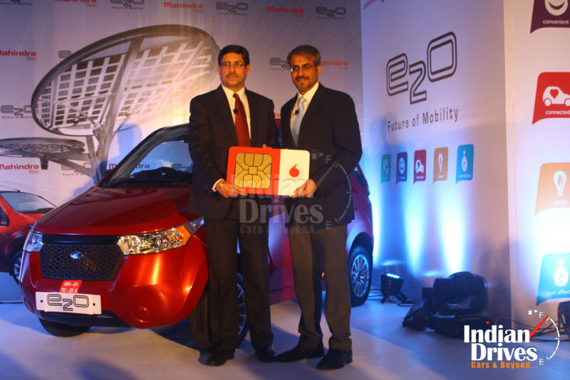 Vodafone links electric car in India