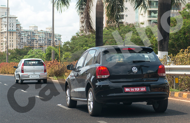 Volkswagen Polo GT TDI Spotted Testing Back View