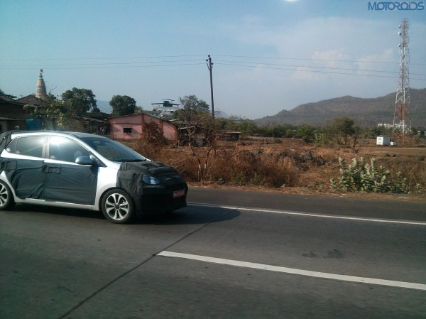 2014 Hyundai i10 caught testing