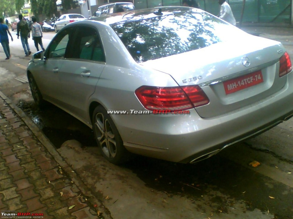 2014 Mercedes Benz E Class spotted  Back View