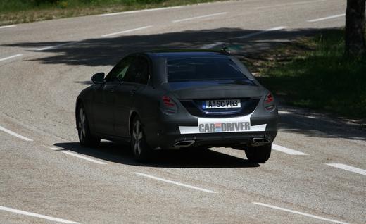 2015 Mercedes-Benz C-class Spy Shots Back View