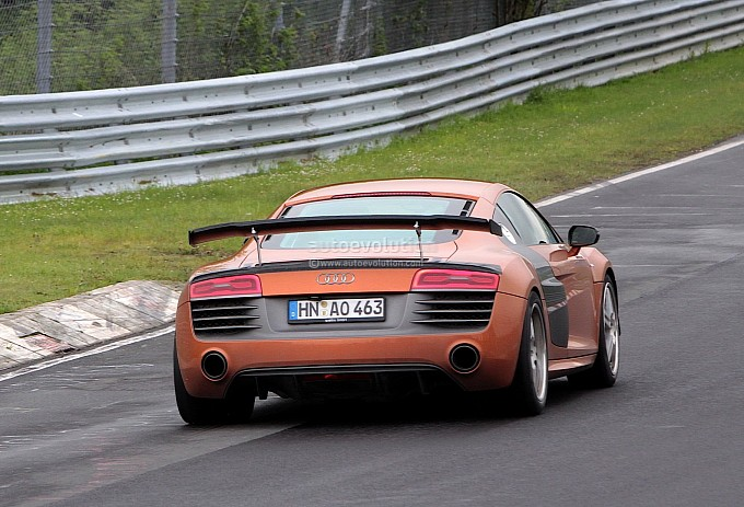 Audi R8 GT3 Facelift Spotted Testing Back View