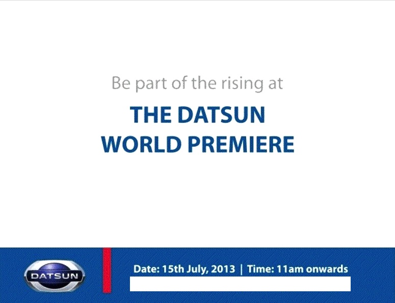 Datsun to launch in India