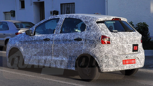 Ford Figo Spied Testing Back View