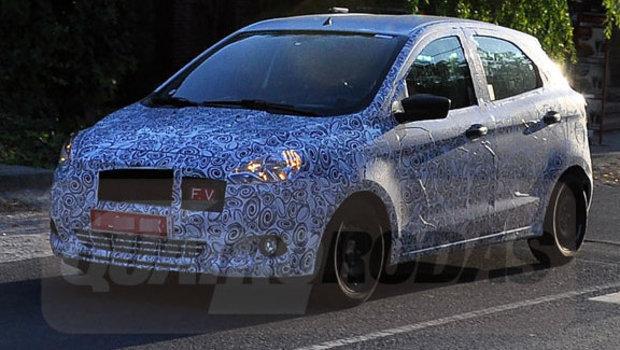 Ford Figo Spied Testing