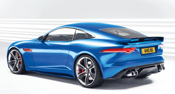 Jaguar F-Type Coupe Back View