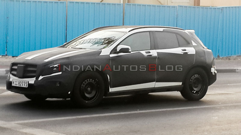 Mercedes Benz GLA Class Spotted Testing