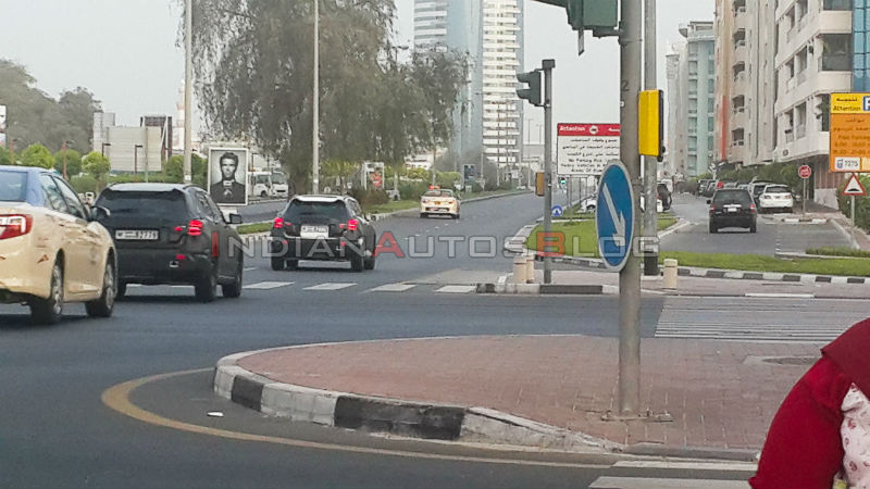 Mercedes Benz GLA Class Spotted Testing Back View