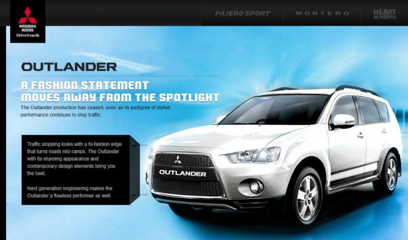 Mitsubishi Outlander Discontinued in India