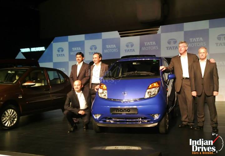 Tata Motors Unveils Facelift Models of Nano, Indigo eCS and Sumo Gold