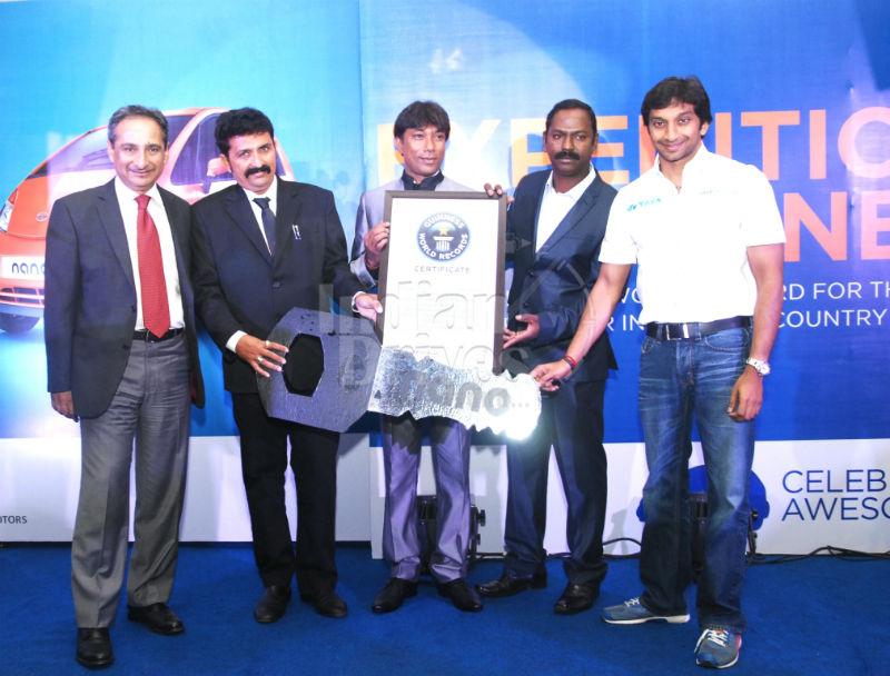 Tata Nano celebrates New World Record