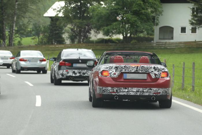 2014 BMW M3 now Spied Testing with M4 Convertible