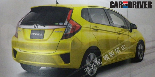 Next Generation Honda Jazz 2014 2014 Honda Jazz Back View