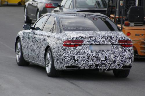 Audi A8 facelift Back View