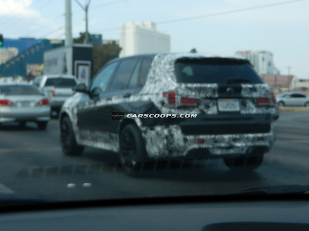 BMW X5M Spied Back View