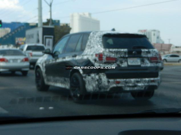 BMW X5M Spied Back View