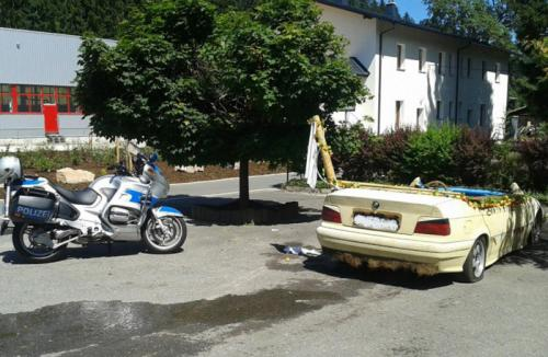 German Police Halt BMW Converted into a Driving Swimming Pool