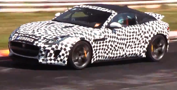 Jaguar F-Type V8 S Coupe Spied Testing