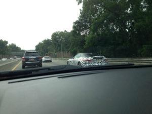 Jaguar F-Type coupe spy photos