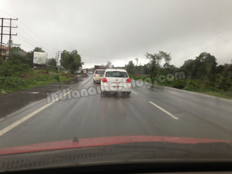 LHD Volkswagen Polo BI Fuel caught testing Back View