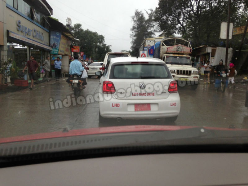 LHD Volkswagen Polo BI Fuel caught testing in India