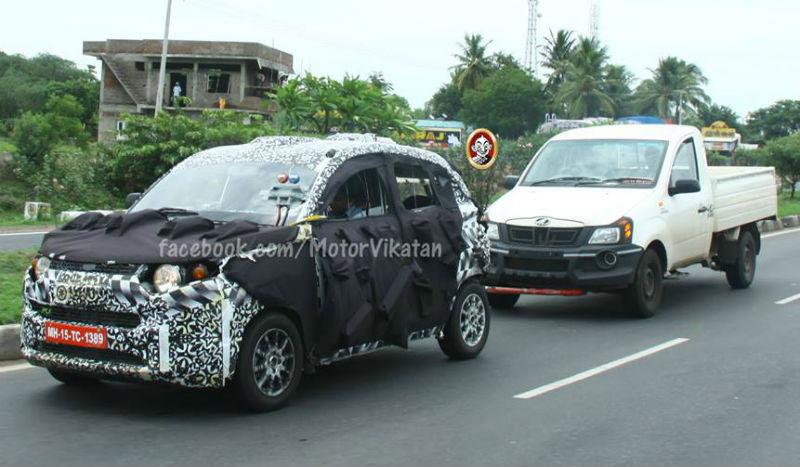 Mahindra Compact SUV S101 Spied again