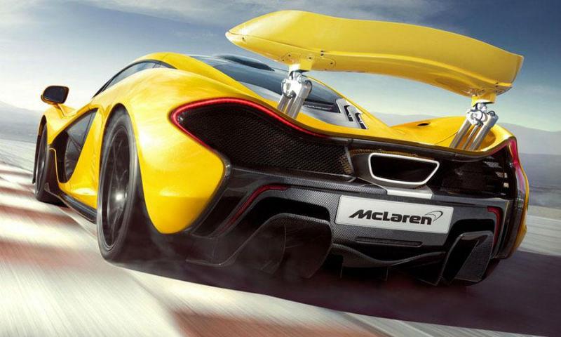 McLaren P1 Supercar Back View