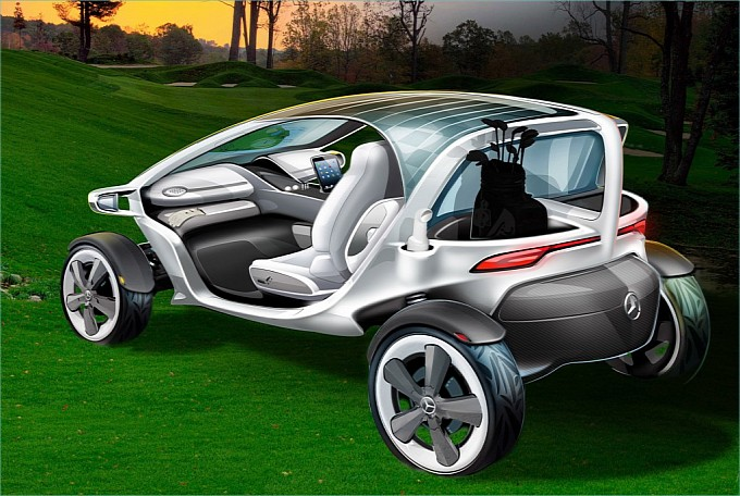 Mercedes-Benz unveils one sweet golf cart Back View