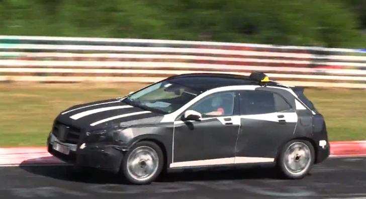 Mercedes GLA Spied Testing
