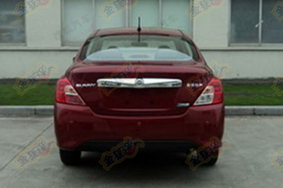 Nissan Sunny Facelift Back View