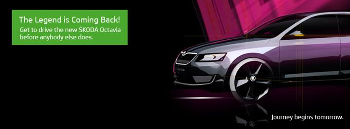 Octavia teasers Skoda official Facebook page