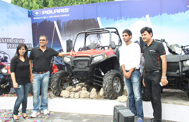 Polaris dealership opened in Lucknow with RZR S 800 presented by Bhuvneshwar