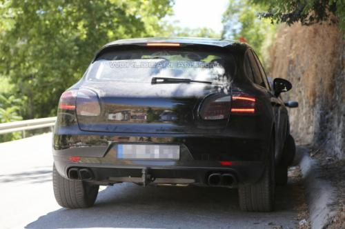 Porsche Macan compact SUV Back View