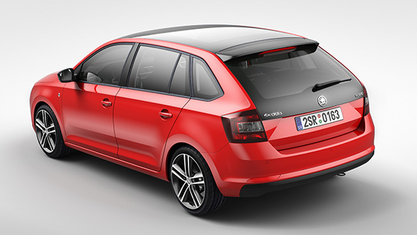 Skoda Rapid Spaceback Back View