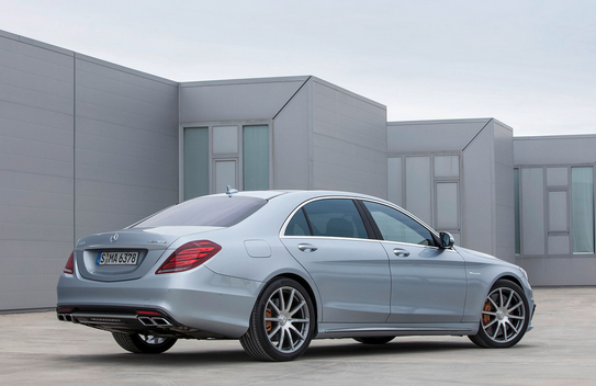 Mercedes Benz S63 AMG Back View