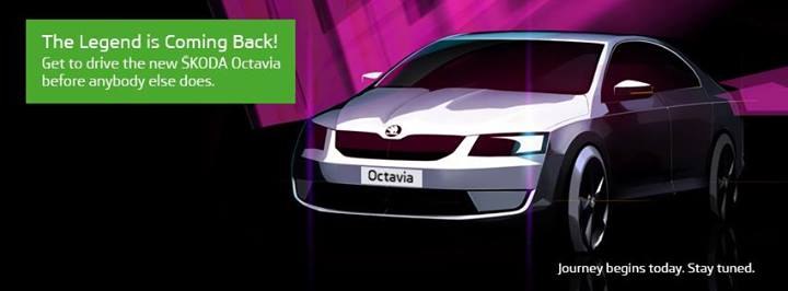 Upcoming Octavia teasers Skoda official Facebook page