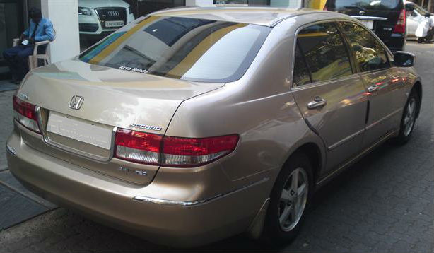 Used Honda Accord V6 Back View