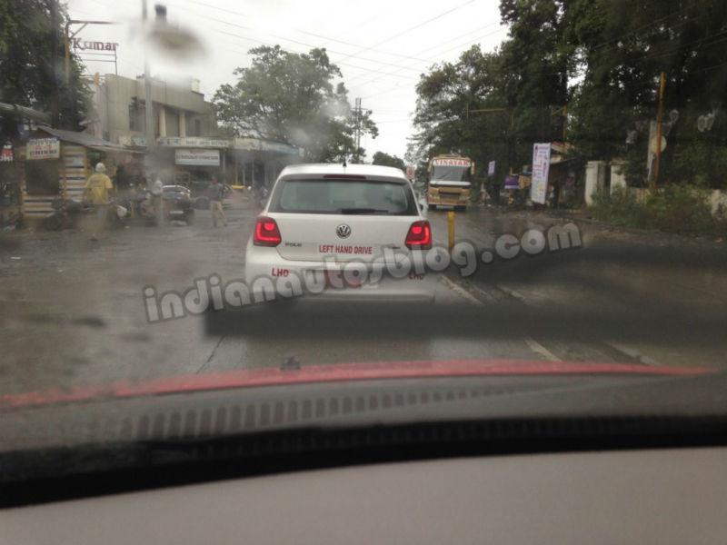 Volkswagen Polo BI Fuel caught testing