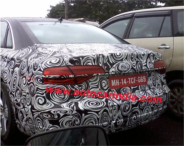 2014 Audi A8 Facelift Back View
