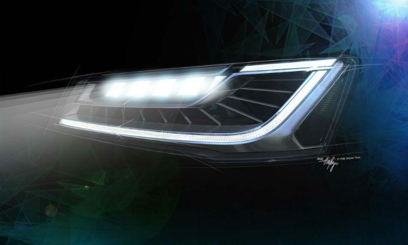 2014 Audi A8 facelift Matrix LED lights