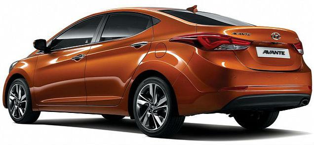 2014 Hyundai Elantra Back View