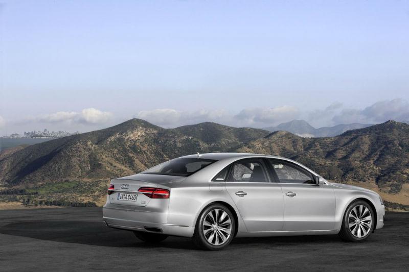 Audi A8 Facelift Back View