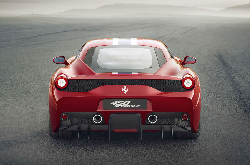 Ferrari 458 Speciale revealed Back View