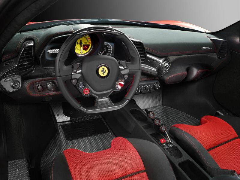 Ferrari 458 Speciale revealed Interiors