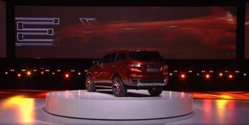 Ford Everest Concept Back View